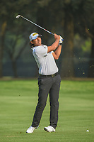 Gavin Kyle Green (MYS) watches his approach shot on 18 during round 2 of the World Golf Championships, Mexico, Club De Golf Chapultepec, Mexico City, Mexico. 3/2/2018.<br /> Picture: Golffile | Ken Murray<br /> <br /> <br /> All photo usage must carry mandatory copyright credit (&copy; Golffile | Ken Murray)