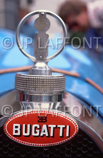 August 26th, 1984. Bugatti detail of radiator.