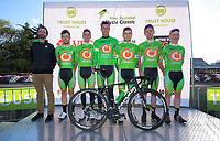 Olivers Real Food Racing team. The opening ceremony of the NZ Cycle Classic UCI Oceania Tour at Queen Elizabeth Park in Masterton, New Zealand on Tuesday, 14 January 2020. Photo: Dave Lintott / lintottphoto.co.nz