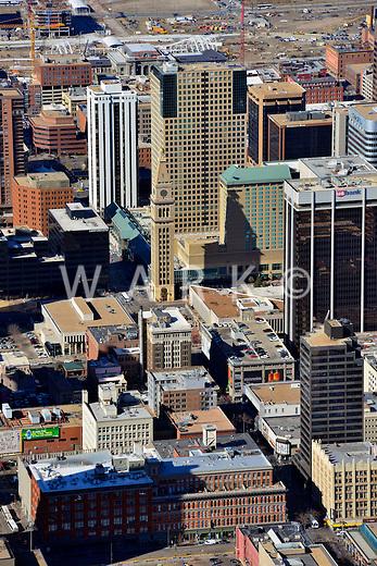 Aerial of Downtown Denver. Feb 2013