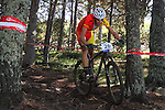 05.09.2015 La Massana Andorra. 201 UCI Mountain Bike World Champions.Picture show David Valero (ESP) in action during Men ELite Cross-country Olympic World Champions