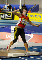 Photo: Richard Lane/Richard Lane Photography. Aviva World Trials & UK Championships. 13/02/2010. Tesni Ward in the women's shot put.