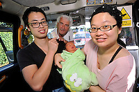 2016 09 01 Baby born in taxi on way to hospital, Swansea, Wales, UK