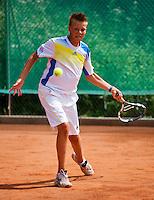 05-08-13, Netherlands, Dordrecht,  TV Desh, Tennis, NJK, National Junior Tennis Championships, Wietse Post  Wietse Post<br /> <br /> <br /> Photo: Henk Koster