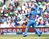 June 18th 2017, The Kia Oval, London, England;  ICC Champions Trophy Cricket Final; India versus Pakistan; Kedar Jadhav of India fields the ball