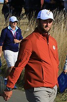 Jon Rahm (Team Europe) at the 12th during Saturday Foursomes at the Ryder Cup, Le Golf National, Ile-de-France, France. 29/09/2018.<br /> Picture Thos Caffrey / Golffile.ie<br /> <br /> All photo usage must carry mandatory copyright credit (© Golffile | Thos Caffrey)