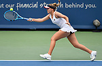 August 17,2019:   Sofia Kenin (USA) loses to Madison Keys (USA) 7-5, 6-4, at the Western & Southern Open being played at Lindner Family Tennis Center in Mason, Ohio.  ©Leslie Billman/Tennisclix/CSM
