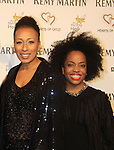 """ATWT Tamara Tunie (co-mistress of ceremonies) poses with Another World's Rhonda Ross at Hearts of Gold's 16th Annual Fall Fundraising Gala & Fashion Show """"Come to the Cabaret"""", a benefit gala for Hearts of Gold on November 16, 2012 at the Metropolitan Pavilion, New York City, New York.   (Photo by Sue Coflin/Max Photos)"""