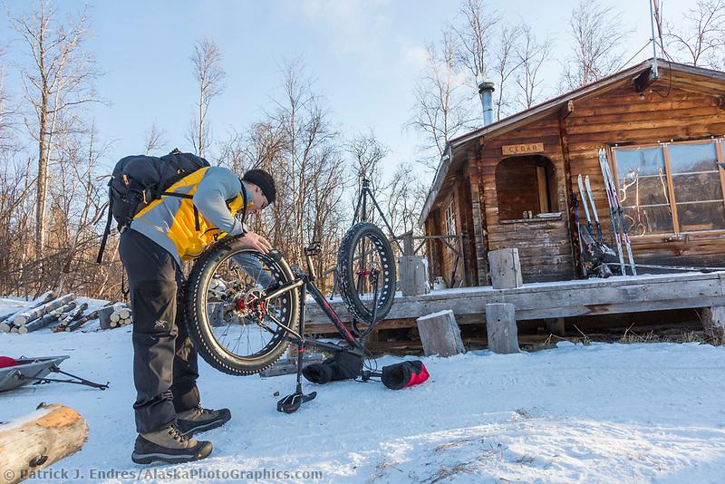 Log cabin at Tolovana Hot Springs.