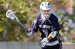 Los Angeles, CA 03/12/16 - Michael Christiansen (Utah State #7) in action during the Utah State vs Loyola Marymount MCLA Men's Division I game at Leavey Field at LMU.  Utah State defeated LMU 17-4.
