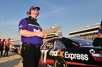 May 2, 2008; Richmond, VA, USA; NASCAR Sprint Cup Series crew chief Mike Ford during qualifying for the Dan Lowry 400 at the Richmond International Raceway. Mandatory Credit: Mark J. Rebilas-US PRESSWIRE