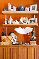 ceramics on the wallshelves