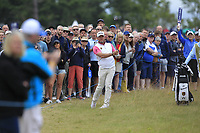 Lee Westwood (ENG) on the 1st during Round 2 of the Aberdeen Standard Investments Scottish Open 2019 at The Renaissance Club, North Berwick, Scotland on Friday 12th July 2019.<br /> Picture:  Thos Caffrey / Golffile<br /> <br /> All photos usage must carry mandatory copyright credit (© Golffile | Thos Caffrey)