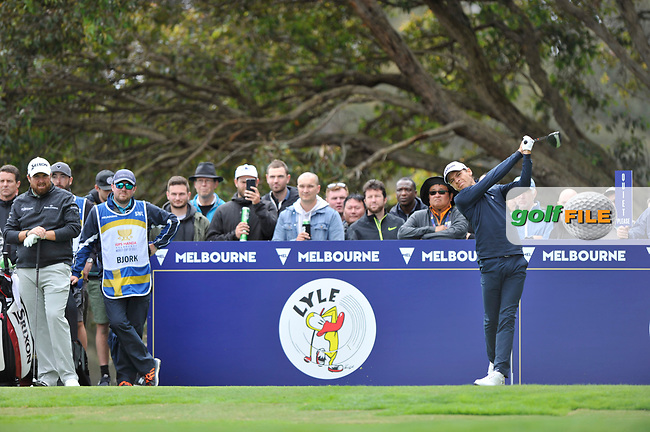 Joakim Lagergren (SWE) during the 3rd round of the World Cup of Golf, The Metropolitan Golf Club, The Metropolitan Golf Club, Victoria, Australia. 24/11/2018<br /> Picture: Golffile | Anthony Powter<br /> <br /> <br /> All photo usage must carry mandatory copyright credit (&copy; Golffile | Anthony Powter)