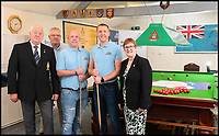 BNPS.co.uk (01202 558833)<br /> Pic:   PhilGreig/BNPS<br /> <br /> Left to right -  Bob MacRae, Chairman of the RAF Association Newark and District Branch, Station Officer Geoff Burton, Corporal Joel Pickersgill, Sergeant Chris Bullen and Ailsa Gough, Area Director of the South East and Eastern Region of the RAF Association.<br /> <br /> Need a break ...<br /> <br /> Two RAF friends have set a new Guinness World Record - for the longest ever snooker match.<br /> <br /> Corporal Joel Pickersgill, 34, and Sergeant Chris Bullen, 35, played continuously for a staggering 87 hours and 33 minutes, comfortably beating the previous record of 85 hours and 19 minutes.<br /> <br /> Cpl Pickersgill emerged victorious 118 games to 48 in the titanic contest, with over 7,000 balls potted.<br /> <br /> By the end, the players were so tired they began hallucinating and seeing pockets in the middle of the table.