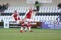 Jordan Nobbs of Arsenal scores the third goal for her team during Arsenal Women vs Sunderland AFC Ladies, FA Women's Super League FA WSL1 Football at Meadow Park on 12th November 2017