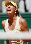 Russia's Maria Sharapova reacts shortly before defeating Germany's Andrea Petkovic during their quarterfinal match of the French Open tennis tournament, at the Roland Garros stadium in Paris, Wednesday, June 1, 2011. Sharapova won 6-0, 6-3 (foto: Srdjan Stevanovic/Starsportphoto ©)