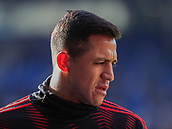 3rd February 2019, King Power Stadium, Leicester, England; EPL Premier League Football, Leicester City versus Manchester United; Alexis Sanchez of Manchester United warms up for the game