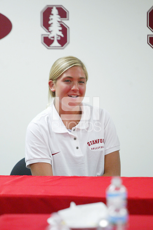 23 August 2005: Bryn Kehoe during media day in Maples Pavilion in Stanford, CA.