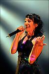 La chanteuse Karimouche en concert au Festival des Francofolies de la Rochelle 2009 / 17 Charente Maritime / Rég. Poitou Charentes / The singer Karimouche at the Francofolies music festival of La Rochelle / France