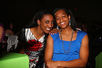 4 April 2008: Stanford Cardinal Candice Wiggins (left) and Melanie Murphy (right) during Stanford's 2008 NCAA Division I Women's Basketball Final Four salute dinner at the Tampa Convention Center in Tampa Bay, FL.