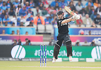 Kane Williamson (New Zealand) cuts through point during India vs New Zealand, ICC World Cup Semi-Final Cricket at Old Trafford on 9th July 2019