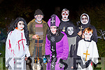 Mark Lane, Jimmy Cullinane, Noel Lane, Pat Healy, David Lane, Liz Lane and John Healy at Knocknagoshel Halloween festival on Sunday night
