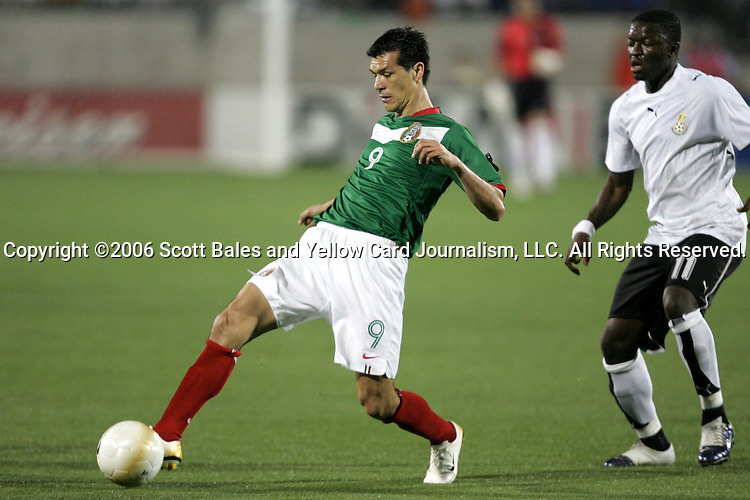 1 March 2006: Mexico's Jared Borghetti (9). The National Team of Mexico defeated the National Team of Ghana 1-0 at Pizza Hut Park in Frisco, Texas in an International Friendly soccer match.