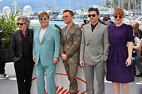 "CANNES, FRANCE. May 16, 2019: Dexter Fletcher, Elton John, Taron Egerton, Richard Madden & Bryce Dallas Howard at the photocall for the ""Rocketman"" at the 72nd Festival de Cannes.<br /> Picture: Paul Smith / Featureflash"