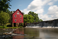 Long exposure landscape of Starrs Mill in Georgia