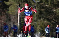 31st December 2019; Dobbiaco, Toblach, South Tyrol, Italy;  FIS Tour de Ski - Cross Country Ski World Cup 2019  in Dobbiaco, Toblach, on December 31, 2019; Ivan Yakimushkin of Russia in the Mens individual 15km