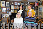 Taking a break from the other side of the counter the Galvin family who celebrated their 40th anniversary as proprietors of the Black Shop in  Castlecove on Saturday last pictured front l-r Carmel & Brendan Galvin, back l-r; Cathleen & Claire Galvin.....Ref Sinead - Story