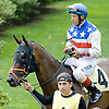 Rubber Duckie with Barry Duncan before The Gentleman International Fegentri Race at Delaware Park on 9/3/11