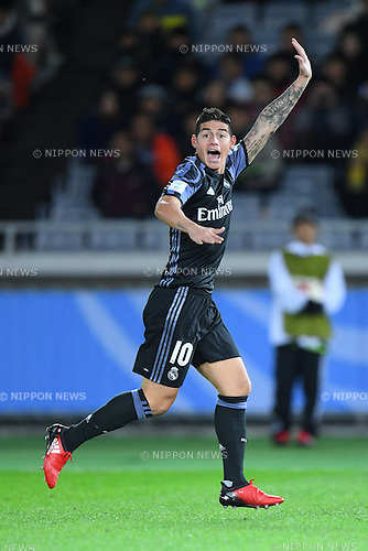 James Rodriguez (Real), <br /> DECEMBER 15, 2016 - Football / Soccer : <br /> FIFA Club World Cup Japan 2016 Semi Final match between <br /> Club America 0-2 Real Madrid <br /> at Yokohama International Stadium, Kanagawa, Japan. <br /> (Photo by AFLO SPORT)