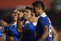 SAO PAULO SP, 20 Julho 2013 - Sao Paulo  X Cruzeiro -  Luan do cruzeiro comemora terceiro gol  durante partida contra o Sao Paulo  valida pelo campeonato brasileiro de 2013  no Estadio do Morumbi em  Sao Paulo, neste sabado, 20. (FOTO: ALAN MORICI / BRAZIL PHOTO PRESS).