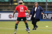 Milena Bartolini coach of Italy and Elena Linari of Italy compete for the ball during the warm up<br /> Castel di Sangro 12-11-2019 Stadio Teofolo Patini <br /> Football UEFA Women's EURO 2021 <br /> Qualifying round - Group B <br /> Italy - Malta<br /> Photo Cesare Purini / Insidefoto