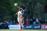 Boston, MA - Sunday May 07, 2017: Yuri Kawamura, Ifeoma Onumonu during a regular season National Women's Soccer League (NWSL) match between the Boston Breakers and the North Carolina Courage at Jordan Field.