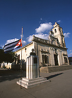 06 FEB 2003 - SANCTI SPIRITUS, CUBA - The Cuban flag flies at half mast out of respect for the crew of the Colombia space shuttle .(PHOTO (C) NIGEL FARROW)