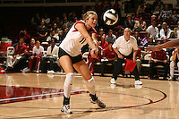 10 November 2005: Jessica Fishburn during Stanford's 3-0 win over Arizona State at Maples Pavilion in Stanford, CA.