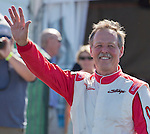 "Robert ""Hoot"" Gibson is introduced to the crowd at the Air Races at the Reno-Stead Airfield on Sunday, Sept. 20, 2015."