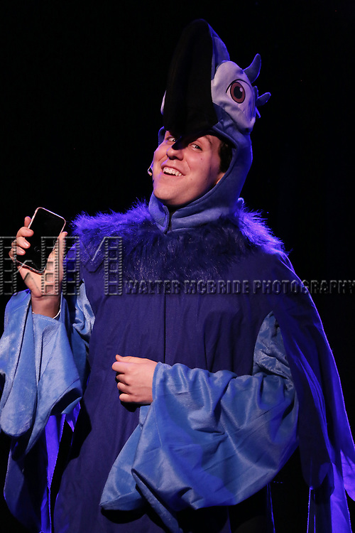 Richard Spitaletta as Twitter performs onstage during the 'ME THE PEOPLE: The Trump America Musical' Press Preview Presentation at The Triad Theater on June 21, 2017 in New York City.
