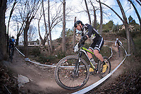 Chelva, SPAIN - MARCH 6: Isaac Ruiz during Spanish Open BTT XCO on March 6, 2016 in Chelva, Spain