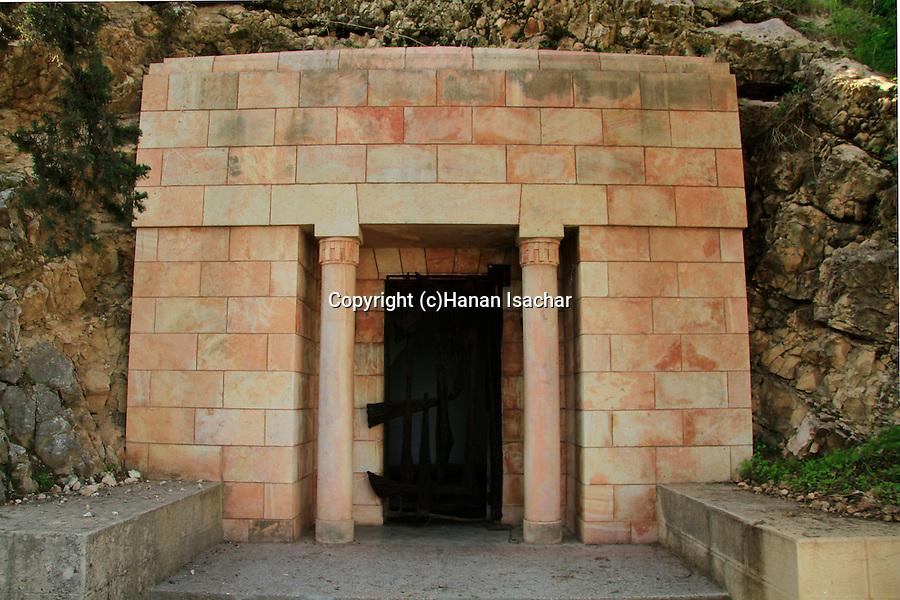 Israel, Harod valley, Yehoshua and Olga Hankin tomb in Ma'ayan Harod national park