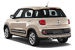 Car pictures of rear three quarter view of a 2014 Fiat 500L Trekking 5 Door Hatchback Angular Rear
