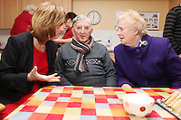 "NO REPRO FEE. 21/11/2011. New Alzheimer Day Centre at full capacity as demand for Alzheimer services grow. Minister for Social Protection Joan Burton T.D. officially opened ""Failte Day Centre"", which will provide dementia-specific, person-centred care to people with dementia and their carers in Hartstown, Clonsilla. The Minister is pictured with client Tim Canavan and wife Mary from the Navan Rd. The Alzheimer Society of Ireland, in partnership with the HSE, is currently operating 3 days a week caring for clients living with dementia who live in Castleknock. Picture James Horan/Collins Photos"