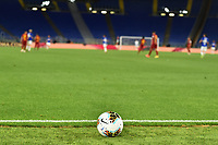 A ball is seen near the end of the pitch line during the Serie A football match between AS Roma and UC Sampdoria at Olimpico stadium in Rome ( Italy ), June 24th, 2020. Play resumes behind closed doors following the outbreak of the coronavirus disease. AS Roma won 2-1 over UC Sampdoria. <br /> Photo Andrea Staccioli / Insidefoto