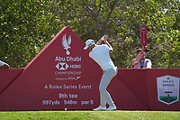Matt Wallace (ENG) on the 8th tee during Round 1 of the Abu Dhabi HSBC Championship 2020 at the Abu Dhabi Golf Club, Abu Dhabi, United Arab Emirates. 16/01/2020<br /> Picture: Golffile | Thos Caffrey<br /> <br /> <br /> All photo usage must carry mandatory copyright credit (© Golffile | Thos Caffrey)