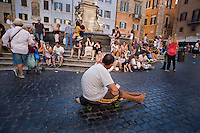 Un mendicante in Piazza del Pantheon.<br /> A mendicant seeking alms at the Pantheon square