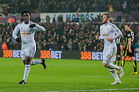 Sunday  14th   December 2014 <br /> Pictured: <br /> Re: Barclays Premier League Swansea City v Tottenham Hotspur  at the Liberty Stadium, Swansea, Wales,UK