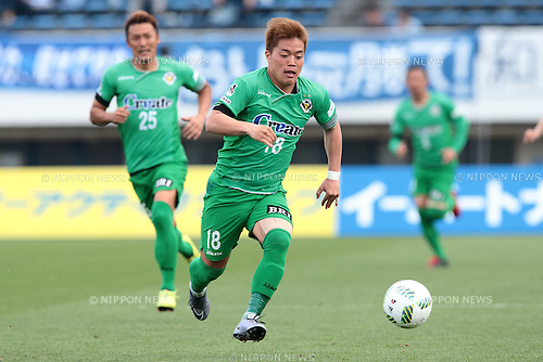 Daisuke Takagi (Verdy), <br /> APRIL 23, 2016- Football /Soccer : <br /> 2016 J2 League match <br /> between Tokyo Verdy 0-3 Mito Hollyhock <br /> at Komazawa Olympic Park Stadium in Tokyo, Japan. <br /> (Photo by AFLO SPORT)